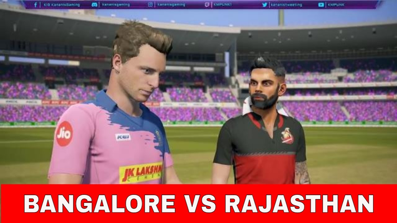 (BANGALORE vs RAJASTHAN) T20 Match Real Cricket 19 Live Cricket Score and Commentary | RCB VS RR