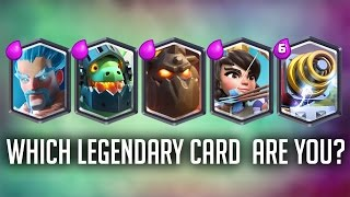 Which CLASH ROYALE LEGENDARY CARD Are You? | Personality Test | Clash Royale