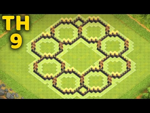 Town Hall 9 Fancy Farming Base - Clash of Clans (CoC TH9)