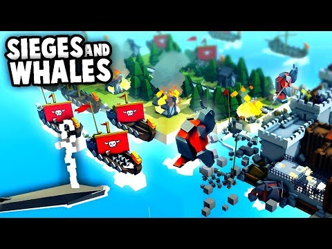 NEW Whales!?  And EPIC Castle Sieges! (Kingdoms and Castles New Update Gameplay)