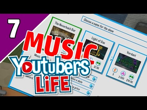 Let's Play YouTubers Life Ep 7 MUSIC | A CONCERT?! | (YouTubers Life Game Gameplay)