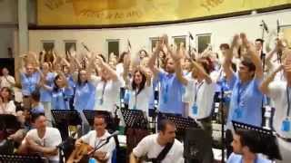 We are marching in the light of God - Medjugorje Youth Festival 2014