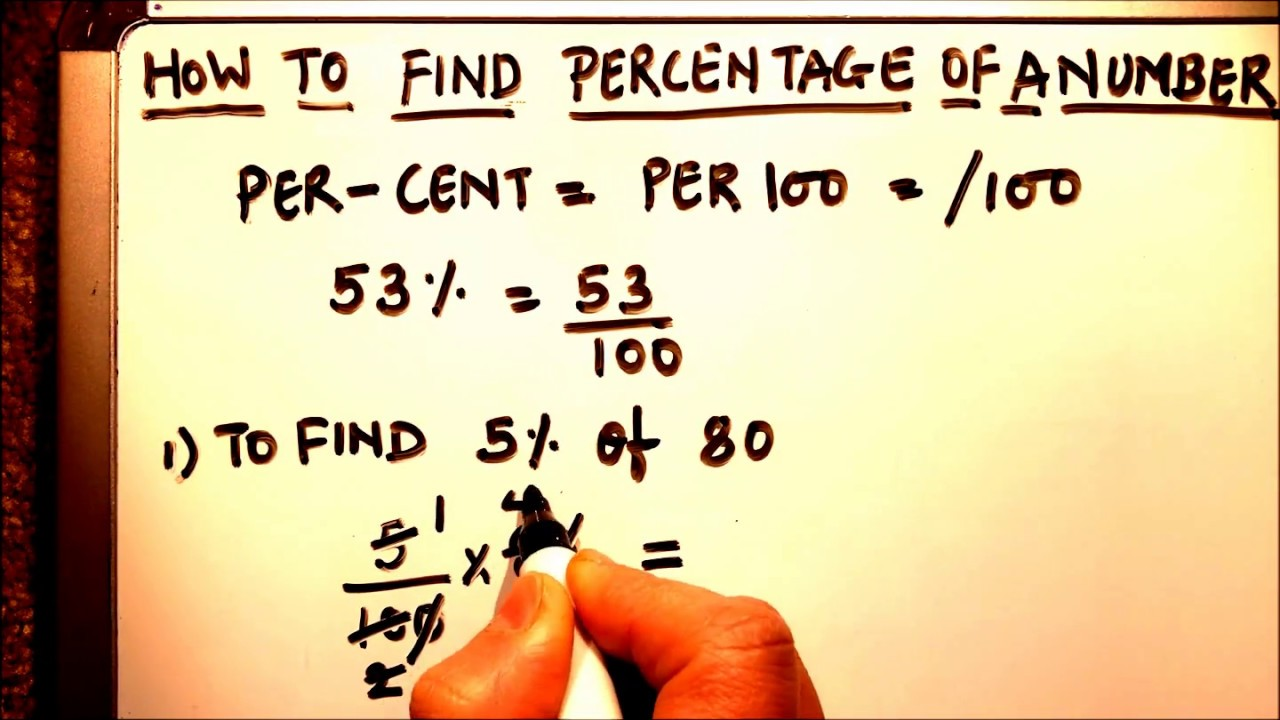 How To Find Percentage Of Any Number