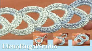 Crochet Simple  Lace Tape Tutorial 8 Кружева из лент(Очень простая ажурная лента вяжется на этом уроке. Её выполнение начинается с кольца из воздушных петель,..., 2014-03-10T20:20:10.000Z)