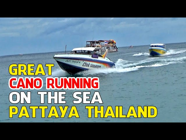 GREAT CANO ON RUNNING ON THE SEA PATTAYA THAILAND