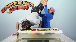 All Mouth No Hands Fruit Challenge!!! (GONE WRONG)