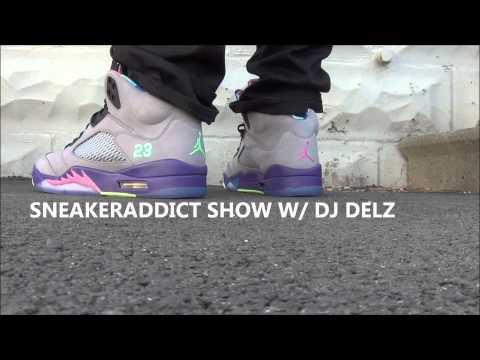 2013 Air Jordan 5 Fresh Prince Of Bel Air V Sneaker Review + On Feet W/ @DjDelz Dj Delz