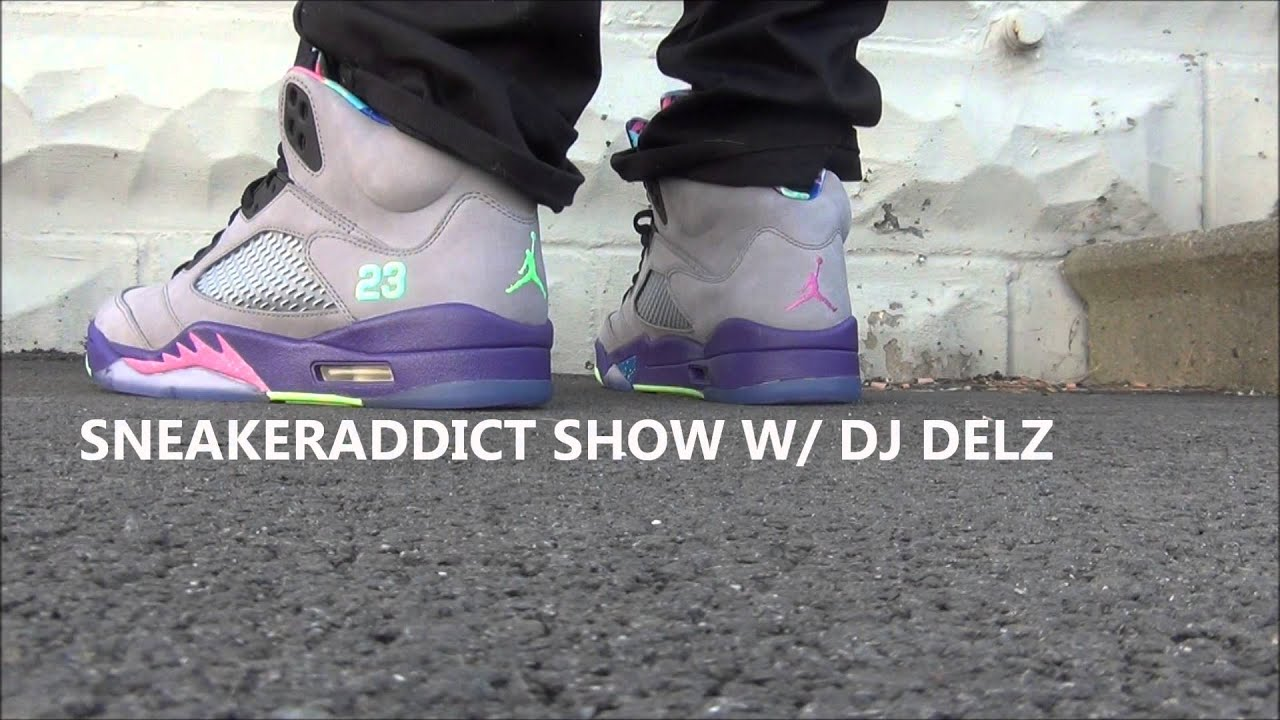 df724fedfbf37c 2013 Air Jordan 5 Fresh Prince Of Bel Air V Sneaker Review + On Feet W    DjDelz Dj Delz