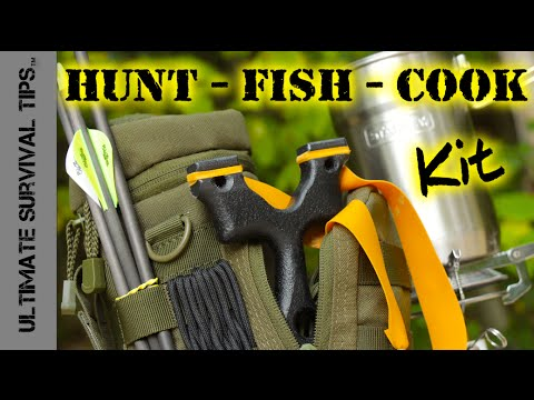 """DIY - Survival / Bug Out - Hunting Fishing Cooking Kit - SERE Sling Bow / SlingShot - """"First Look"""""""
