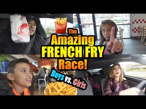 Thumbnail: The Amazing FRENCH FRY Race!!! BOYS vs. GIRLS Challenge!