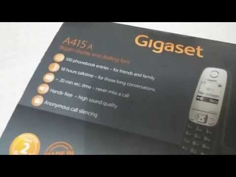Gigaset A415 telephone Unboxing