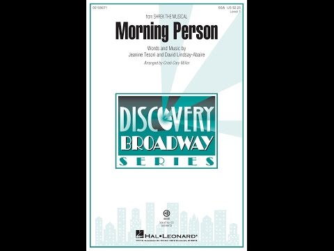 Morning Person - Arranged by Cristi Cary Miller