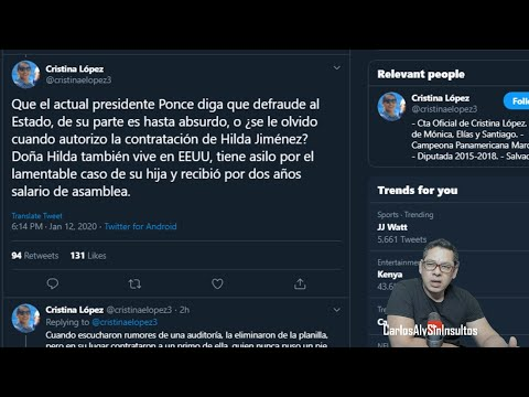 2020/01/12 -Cristina López Hecha De Cabeza Al PCN Y A Mario Ponce