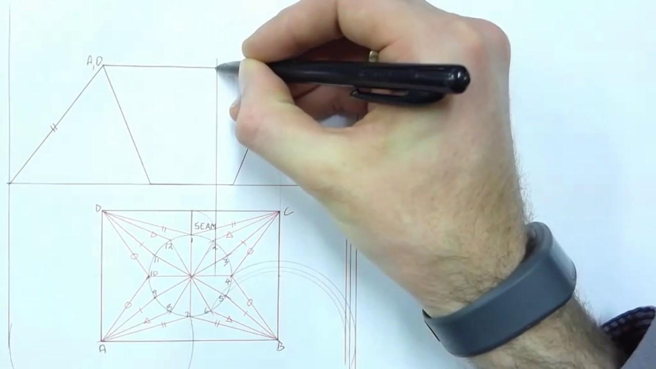 Rectangle to circle hopper(transition piece) development Part 1