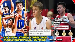Kai Sotto | French Sports page | Russian Sniper | NBL-NBA Pathway | Petecio Olympics Medal Round.