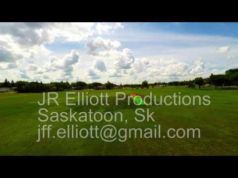Drone Footage in Saskatchewan of football goal posts