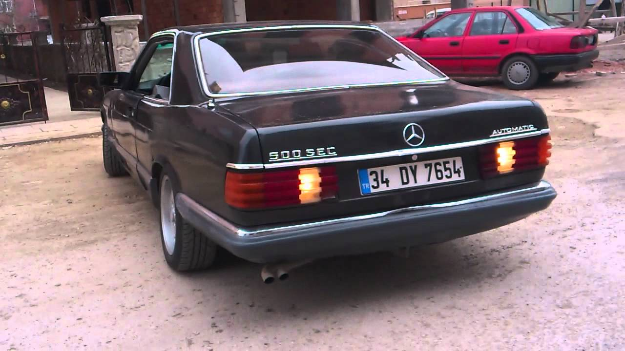 mercedes 500 sec--1985 model test sürüşü hd 720 - youtube
