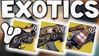 Destiny - NEW EXOTIC WEAPONS !!! (House of Wolves)