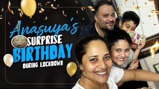 Anasuya's surprise Birthday during Lockdown | Sushank Bharadwaj Attempts to Bake a Cake