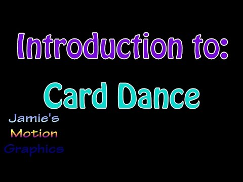 Introduction to: Card Dance - After Effects Tutorial Series
