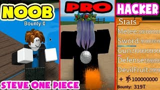 NOOB VS PRO VS HACKER STEVE ONE PIECE | Roblox MinhMaMa