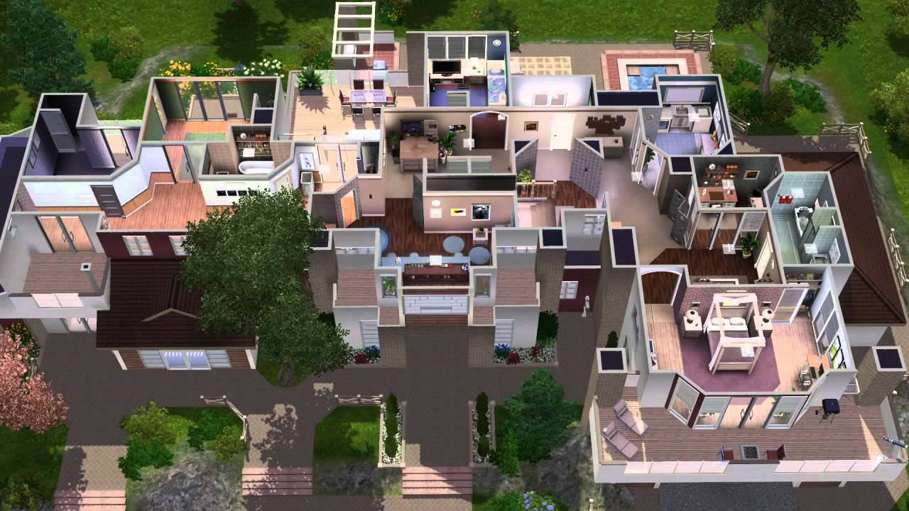 The sims 3 house building premactra 22 youtube for Big modern house sims 4