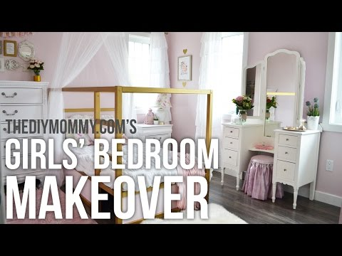 A Girls' Room Design Makeover in Gold, White and Pink! // My Kids' Bedroom Decor Tips + Tricks