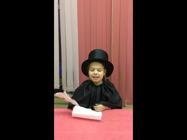 Изображение предпросмотра прочтения – КсенияПлешкова читает произведение «Ворона и Лисица» И.А.Крылова