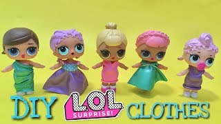diy clothing for lol lil outrageous littles surprise glitter craft toy review and unboxing