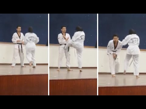 Teenage Girl Takes Out Taekwondo Black Belt With Low Blow