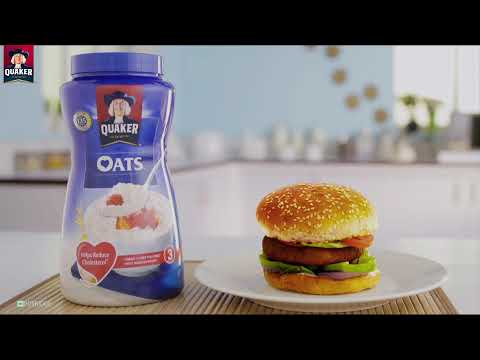 Quaker Oats Patty Burger