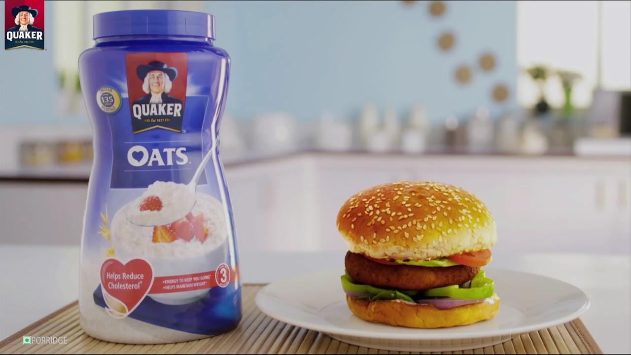 Quick Oats Burger Recipe Oat Burgers Quaker Oats Youtube