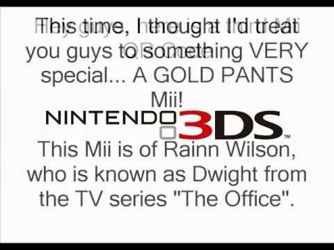 Gold Pants Mii QR Codes DS