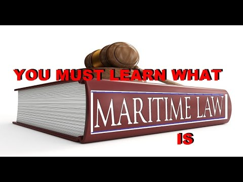 MARITIME LAW what it IS - TAXES -  HOW to BECOME LEGALLY FRE