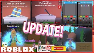 Roblox Mining Simulator! 🐟NEW ATLANTIS LAND! The LOST CITY of Bacon Hairs!