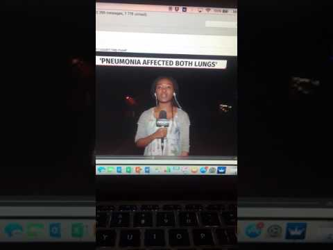 Awkward South African news reporter crossing