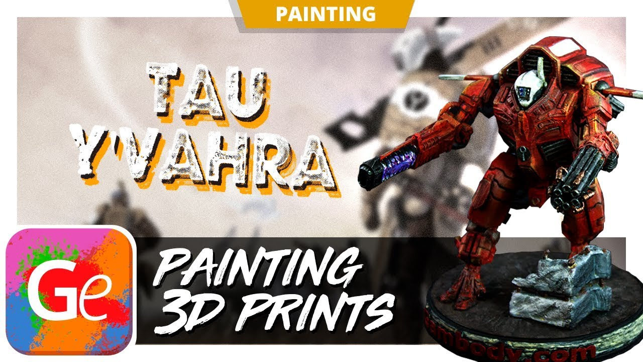 Painting TAU XV109 Y'Vahra 3D Model | Tutorial by Gambody