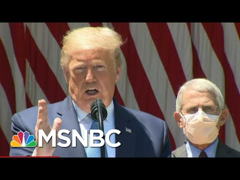 Trump Declares 'Vaccine Or No Vaccine, We're Back,' As Coronavirus Deaths Approach 90,000 | MSNBC
