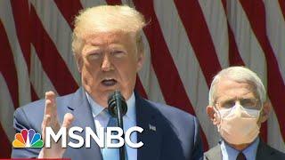 Trump Declares 'Vaccine Or No Vaccine, We're Back,' As Coronavirus Deaths Approach 90,000 | MSNBC