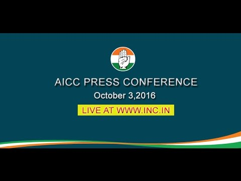 AICC Press Conference addressed By Anand Sharma, 3 October 2016