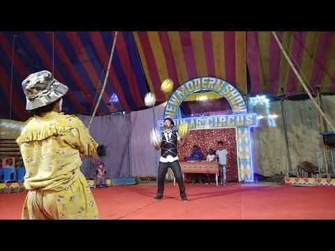 Silchar Popular circus funny performance with jokers great Indian talent Gandhi Mala Assam India