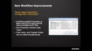Autodesk Vault Professional 2012 Item Master Enhancements
