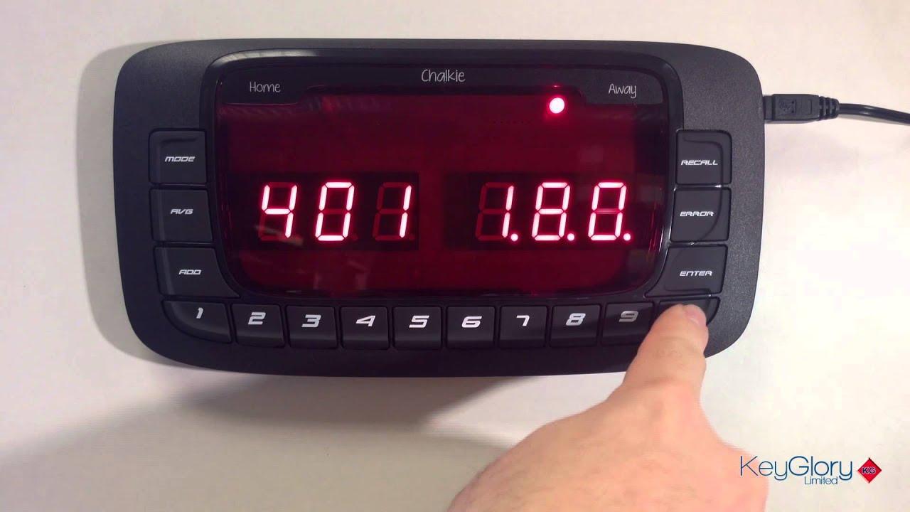 Dartsmate Chalkie Plus Electronic Darts Scorer Scoring Machine Free Extras UK