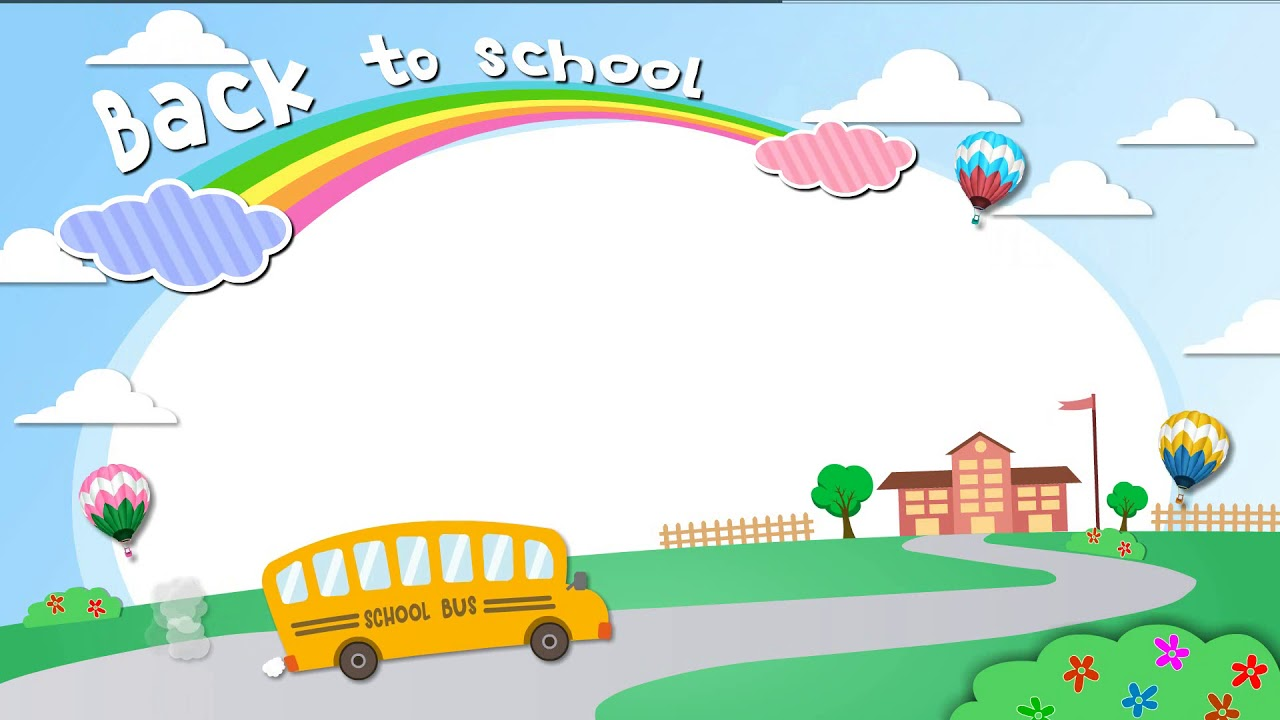 Cartoon - Back To School - Border Background Loop Seamless ...