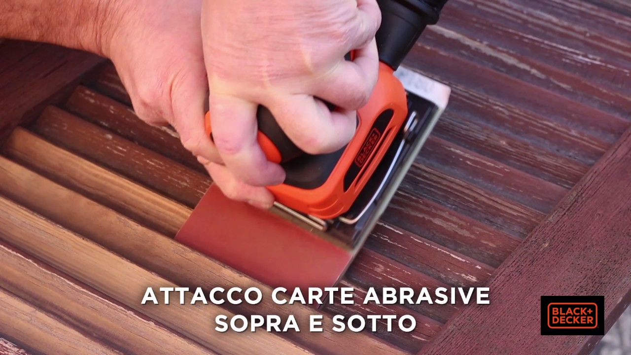 Levigatrice per persiane ka401la black decker youtube for Allestimenti per furgoni fai da te