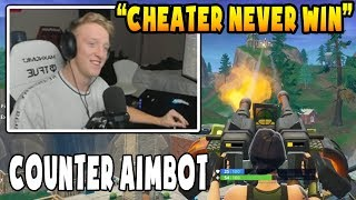 Tfue Finds an Aimbotter and He Destroys Him with TURRET | Fortnite Battle Royal Gameplay