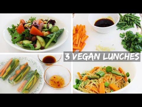 3 Easy Healthy Vegan Lunch Ideas YouTube