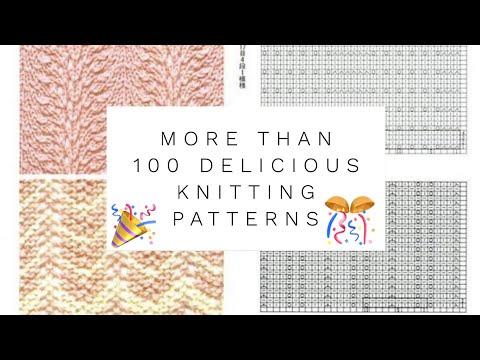 УЗОРЫ СПИЦАМИ со схемами и фото: более 100!!! / More Than 💯 Knitting Patterns