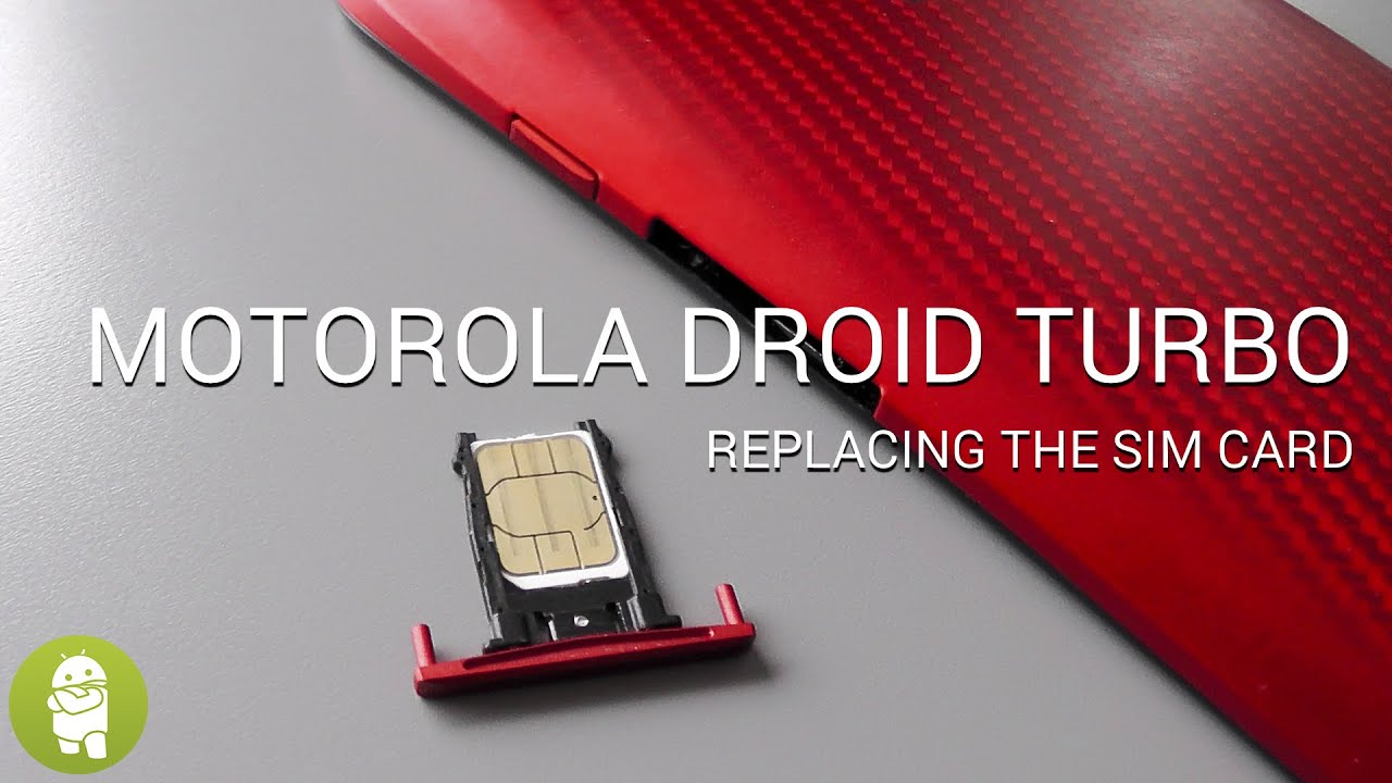Replacing the Droid Turbo's SIM card - YouTube