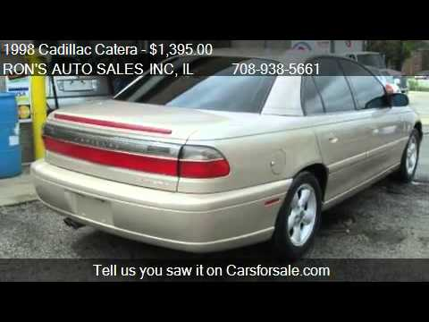 1998 Cadillac Catera Sedan With Leather For Sale In Melros Youtube